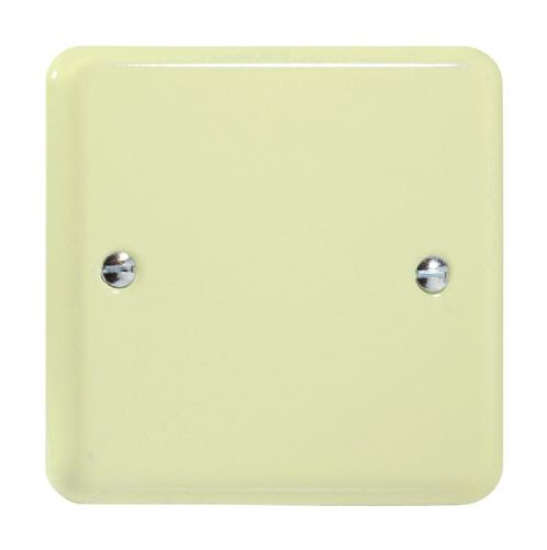Varilight XYSB.WC Lily Pastel White Chocolate 1 Gang Single Blank Plate